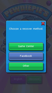PewDiePie Tuber Simulator Recover Account Options